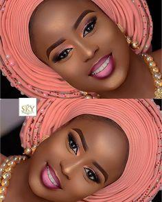 2019 Captivating Makeup Styles for Black Women . 2019 Captivating Makeup Styles for Black Women - Naija's… - © COPYRIGHT - Black Bridal Makeup, Makeup For Black Skin, Black Girl Makeup, Bride Makeup, Girls Makeup, Wedding Makeup, Make Up Looks, Flawless Makeup, Gorgeous Makeup