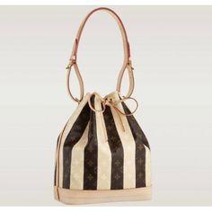 Louis Vuitton Monogram Rayures Noe Bag #Bucket_Bag #Louis_Vuitton