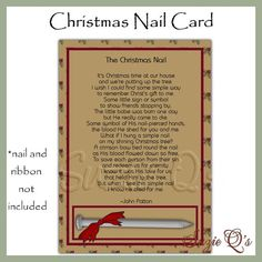 Christmas Nail 5 x 7 Card Fronts  Digital by SuzieQsCrafts on Etsy, $1.25