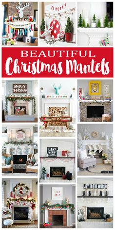 Best Diy Crafts Ideas beautiful-christmas-mantels-collage -Read More – Merry Christmas, Christmas Mantels, Diy Christmas Gifts, Christmas And New Year, All Things Christmas, Winter Christmas, Christmas Home, Vintage Christmas, Christmas Decorations