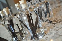 Homemade Vanilla Extract as a Party Favor? How about something like this for Gifts Joy?