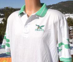 c4661dcc0 90s vintage polo golf shirt philadelphia EAGLES nfl football XL Large 80s  soft. Camisetas ...
