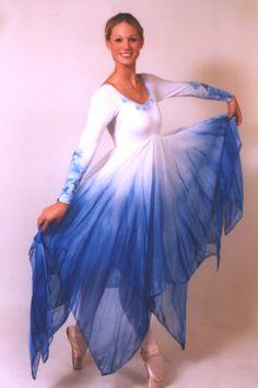 watercolor hardkerchief hem Praise Dance Wear, Praise Dance Dresses, Worship Dance, Dark Fantasy Art, Garment Of Praise, Contemporary Dance Costumes, Dance Tops, Handkerchief Dress, Royal Ballet