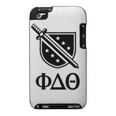 Stacked Logo and Letters - Black Case For The iPod Touch