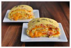 Baked Western Omelette Egg Roll