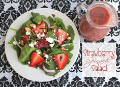 Love strawberries in my spinach salads.  But the raspberry poppyseed homeade dressing looks amazing for this as well.
