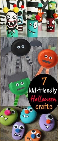 7 Kid Friendly Halloween Crafts. Art and craft projects for the perfect Halloween party. Fun Halloween projects on a dime!