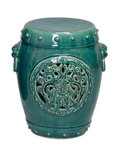 InStyle-Decor.com Beverly Hills Garden Stools / Side Tables Great Functional Addition To     Any Room Trending Hollywood Home Decor Enjoy & Happy Pinning. Love this teal green!!! Bebe'!!! Beautiful!!!