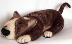Needle felted English Bull Terrier