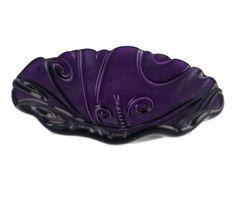 Purple scalloped bowl