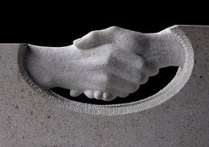 Handshake headstone detail, carved by Lucy Churchill
