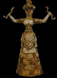 Minoan Lady Beneath the Earth (Persephone) a. the Cretan Snake Goddess, keeper of ancient wisdom. World Mythology, Chinese Mythology, Celtic Mythology, Greek Mythology, Potnia Theron, Goddess Of The Underworld, Snake Goddess, Minoan Art, Ancient Goddesses
