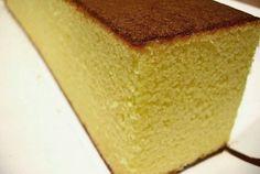 Kasutera - Bizcocho Castella - Ingredientes: 2 cucharadas de leche 2 cucharadas de miel 4 huevos 3/4 de taza de azúcar ...