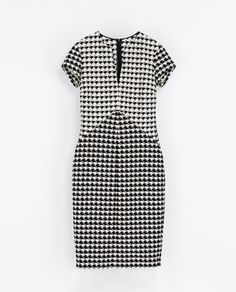HOUNDSTOOTH CHECK DRESS - Dresses - Woman | ZARA United States