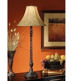 Wildwood Lamps Tall Twist Buffet Table Lamp in Hand Finished 46319 | Lighting New York