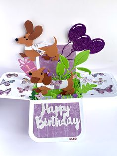 Pop Up Box Cards, Dachshund, Snoopy, Character, Art, Art Background, Weenie Dogs, Kunst, Weiner Dogs