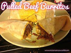 Pulled Beef Burritos - Miss Mamo's World