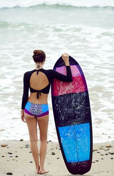 FP Movement X Zinke Wave Seeker Boy Bottoms at Free People Clothing Boutique Roxy Surf, Surf Wear, Beach Wear, Surf Girls, Beach Girls, E Skate, Surf Style, Rash Guard, Swimsuits
