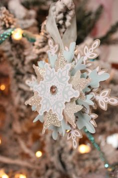 Festive flurry ornament kit from Stampin'up!