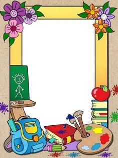 Boarder Designs, Page Borders Design, Preschool Crafts, Crafts For Kids, Tree Decal Nursery, School Board Decoration, School Binder Covers, Art Classroom Management, School Border