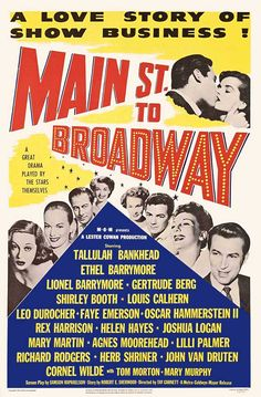 1953:  June Collyer had an uncredited part in 'Main Street to Broadway'