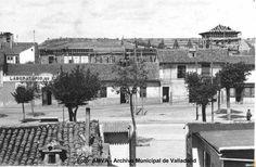 Paseo Zorrilla 1933. Colegio Ponce de León en construcción