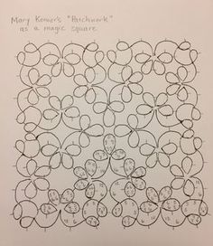 In my last post, I talked about wanting to create a magic square out of four ringed flowers, similar to those used by Mary Konior. The more ...