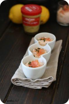 Une recette pour plusieurs utilisations, ca vous dit ?! Mais bien sur que ca vous dit !! Actuellement, on est toujours à la recherche de recettes simples, rapides et chics ! Avec cette recette de mousse au saumon fumé à la moutarde c'est le cas, on met...