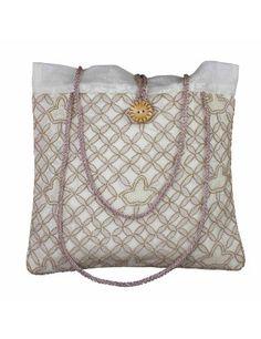 7ad1ad410b4  Bolso de verano para mujer accesorios Bolso bordado acolchado de seda  blanco crema  Amazon. Handbag AccessoriesWomen ...