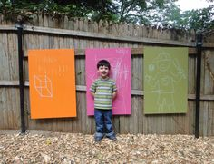 Colored outdoor chalk boards. Similar to what we are planning :-)