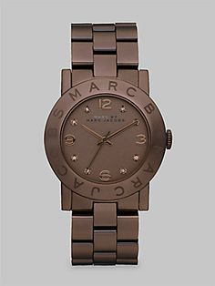 I'm not a big watch person but I ❤ the color & simplicity of this one.  Marc by Marc Jacobs Crystal Accented Brown Ion-Plated Watch