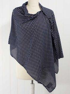FWK Engineered Garments  Navy Spot Wrap   _ 67% cotton, 33% silk