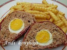 Andi konyhája - Sütemény és ételreceptek képekkel - G-Portál Bacon, Food And Drink, Eggs, Breakfast, Morning Coffee, Egg, Pork Belly, Egg As Food