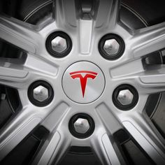 Tesla Model S/X Wheel Center Cap T Logo Insert Decals Stickers Set Any Colors. eBay