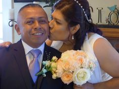 We translated the wedding ceremony into Spanish and the couple exchanged vows with their closest family.