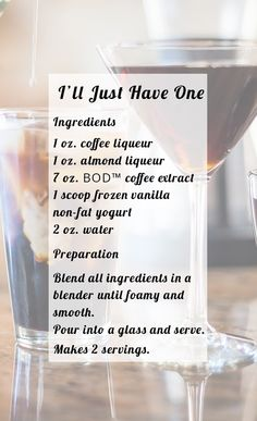 I'll Just Have One - Make Better Tasting Hot or Iced Coffee & Cocktails in Seconds