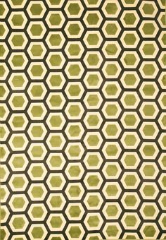 Sonoma Apple Green Honeycomb Area Rug