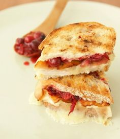 After Party Sandwich with Havarti Cheese- plus a great recipe for Cranberry Relish. Yum!