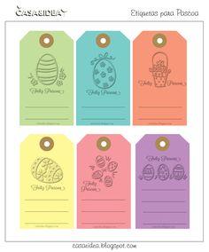CASA: Etiquetas / TAG - Feliz Pascoa - Para imprimir! ;)
