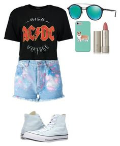"""""""Untitled #240"""" by rowanstella on Polyvore featuring Forte Couture, Boohoo, Ray-Ban, Converse, Ilia and Corgi"""