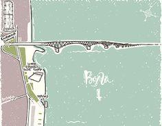 """Map of The Cosmonauts Embankment"""