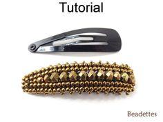 Beaded Hair Snap Clip Barrette Beadette Beading Pattern Tutorial | Simple Bead Patterns