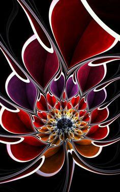 Pin by Metafractals on Fractals - Digital Art in 2020 Fractal Design, Fractal Art, Psychedelic Art, Op Art, Wallpaper Backgrounds, Wallpapers, Flower Art, Amazing Art, Fantasy Art