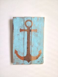 Anchor -  Beach House Decor on reclaimed wood