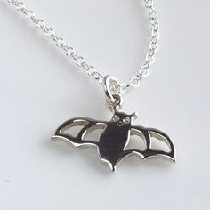 Bat Necklace, Sterling Silver Bat necklace, Silver Bat Charm Necklace, Ideas for Women, Gift Ideas for Wife, Gift Ideas for Friend, Sterling Silver Layering Necklace, Silver Everyday Necklace >>> Discover this special product, click the image : Handmade Gifts