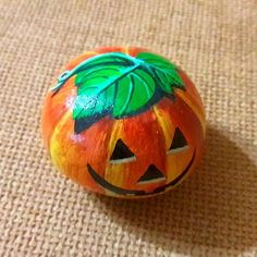 .Art Ed Central loves this painted pumpkin rock!
