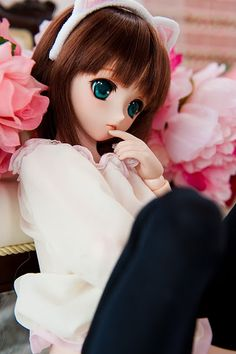love the eyes superb flowers Anime Dolls, Ooak Dolls, Blythe Dolls, Girl Dolls, Beautiful Barbie Dolls, Pretty Dolls, Pictures Of Barbie Dolls, Barbie Images, Cute Cartoon Girl
