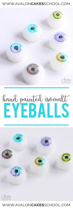 Learn how to make these hand painted isomalt sugar eyes! Perfect special touch for face and bust cakes! Depth and realism with these glass-like eyes. Cake decorating online Avalon Cakes www.avaloncakesschool.com