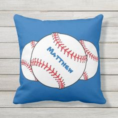 Shop Patriotic Red White Blue Baseball Outdoor Pillow created by Bebops. Softball Socks, Softball Memes, Softball Shirts, Softball Bats, Kentucky Basketball, Kentucky Wildcats, Duke Basketball, Sports Baseball, College Basketball