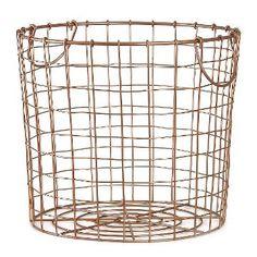 Copper Wire Round Basket Large - Room Essentials™